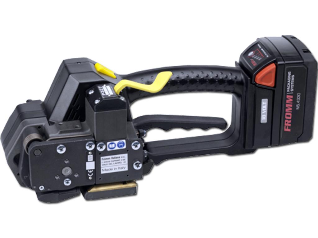 akumulátorový páskovač nabalenie viazacími páskami