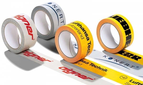 potlačené lepiace pásky ku strečovým fóliám