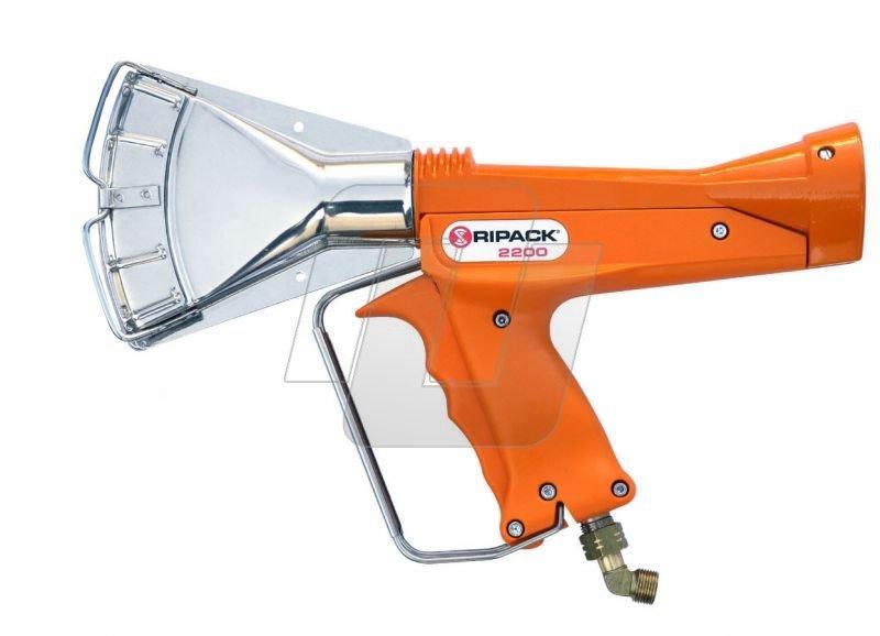 teplovzdušná pištoľ nabalenie tovaru dozmršťovacích fólií