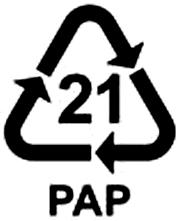 recyklačný symbol hladká lepenka