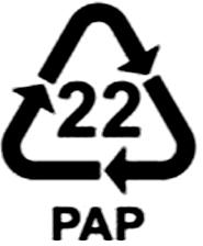 recyklačný symbol papier