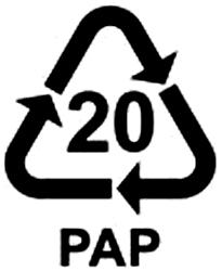 recyklačný symbol vlnitá lepenka